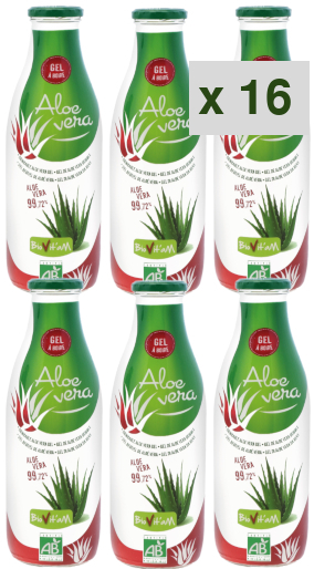 aloe vera gel a boire: 16 cartons de 6 bouteilles de 1 litre