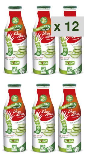 aloe vera morceau pulpe: 12 cartons de 6 bouteilles de 1 litre