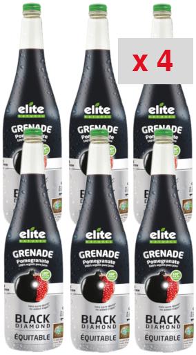 grenade black diamond: 4 cartons de 6 bouteilles de 1 litre