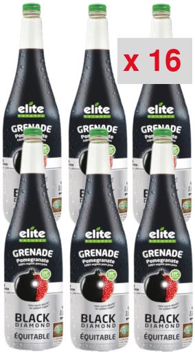 grenade black diamond: 16 cartons de 6 bouteilles de 1 litre
